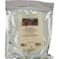 Organic Flax Seed 1 Lbs, Starwest Botanicals By Starwest Botanicals
