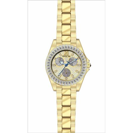Invicta 28449 38 in. Womens Angel Quartz 3 Hand Pave & Charcoal Dial Watch - image 1 of 1
