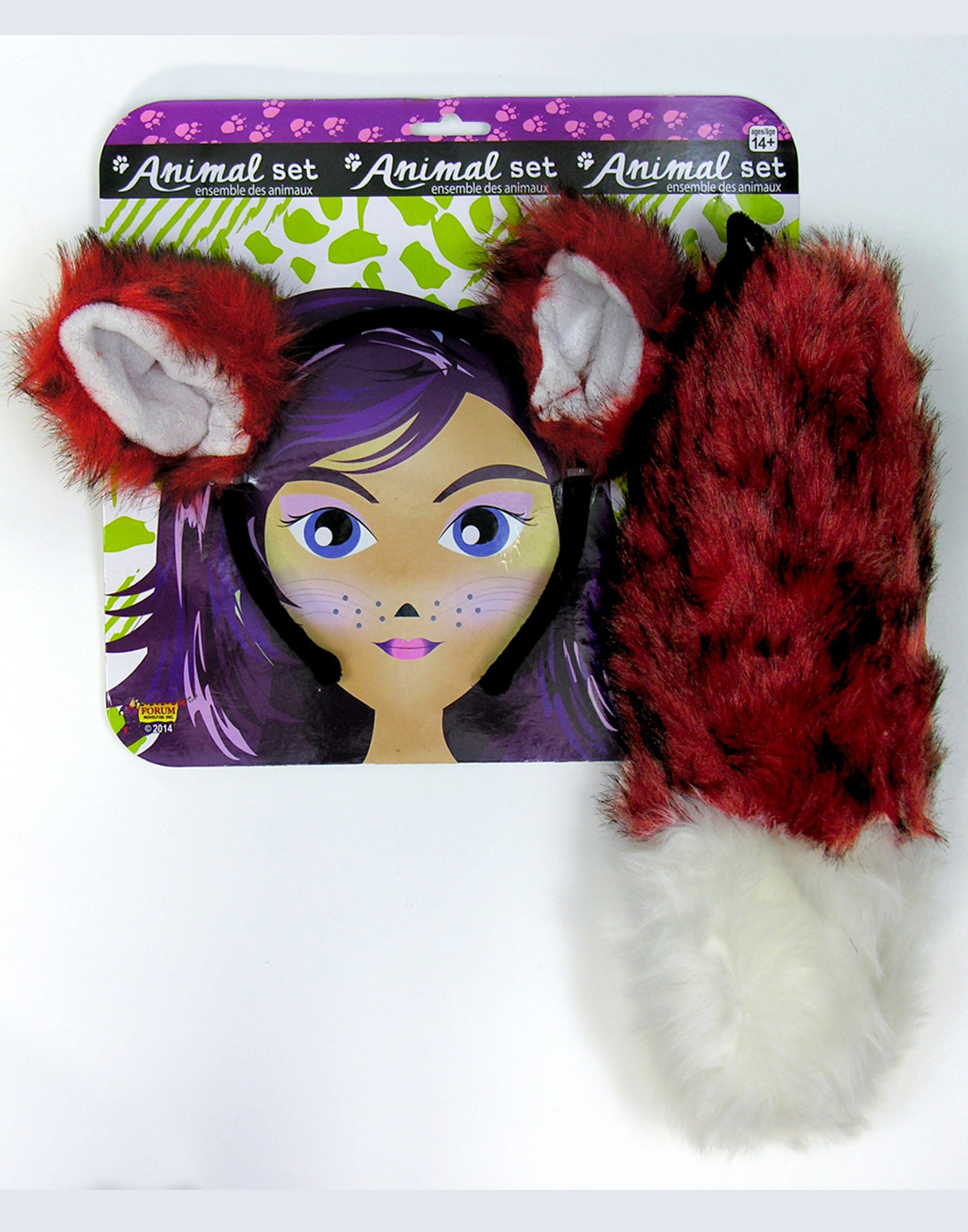 Fox Ears and Tail Set Adult Halloween Accessory by Generic