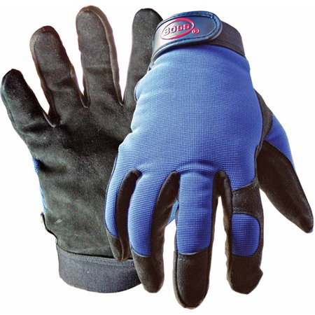 Boss 890L Large Black and Blue Boss Guard Leather Gloves