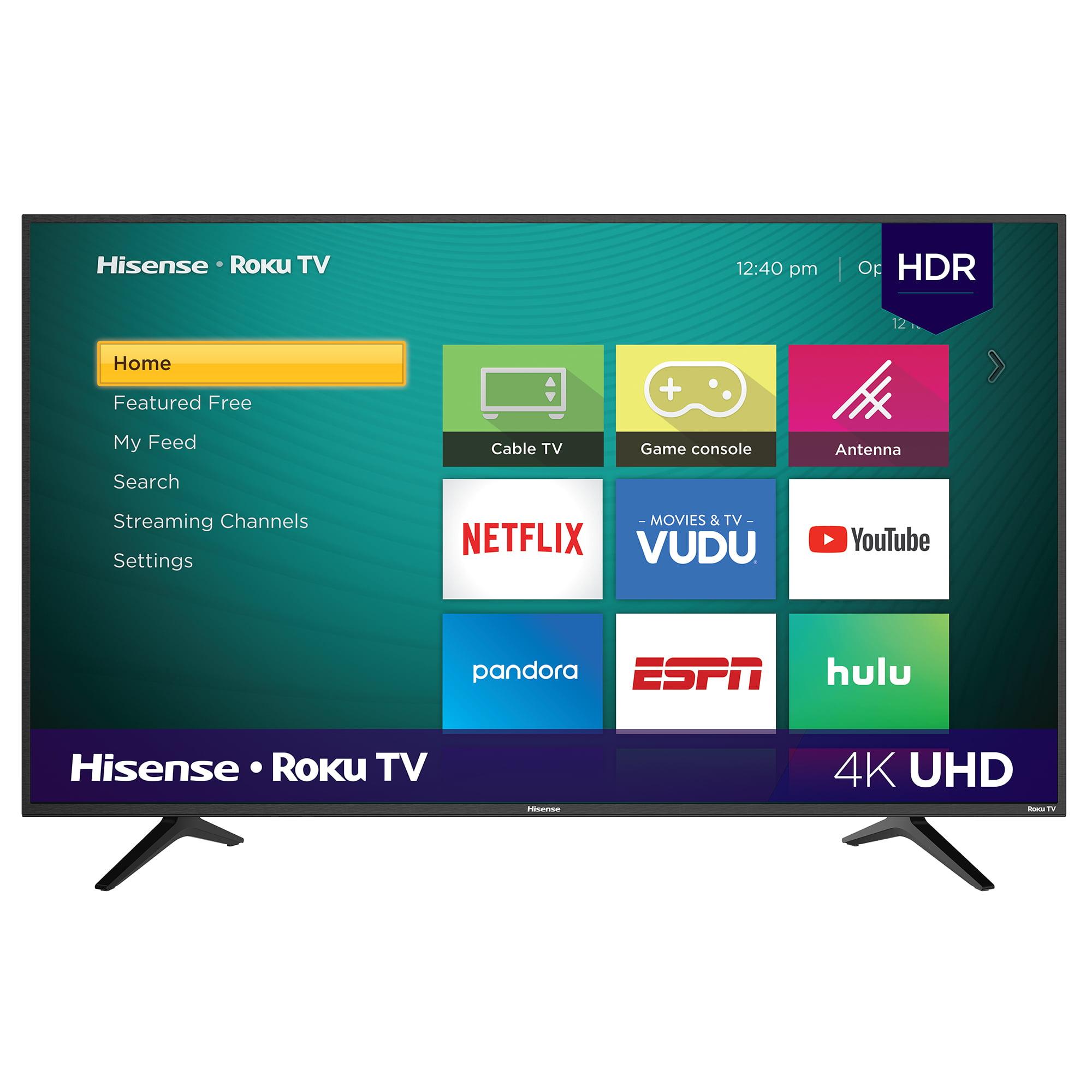 """Hisense 58"""" Class 4K UHD LED Roku Smart TV HDR 58R6E"""