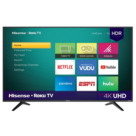 "Hisense 58"" Class 4K Ultra HD (2160P) HDR Roku Smart LED TV (58R6E)"