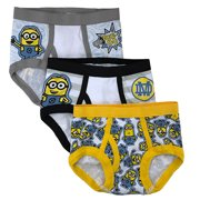 Warner Bros. Despicable Me Bob the Minion; Kevin the Minion; Stuart the Minion; Minions, Boys Underwear, 3 Pack Briefs (Toddlers)