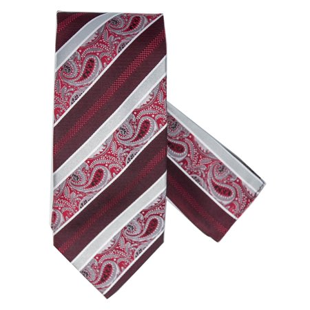 Men's 100% Silk Woven Wedding Neck Tie With Handkerchief