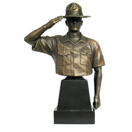 Khaki Army USA KA103 Marine Drill Instructor - 8 In. Hail & Farewell - Drill Instructor