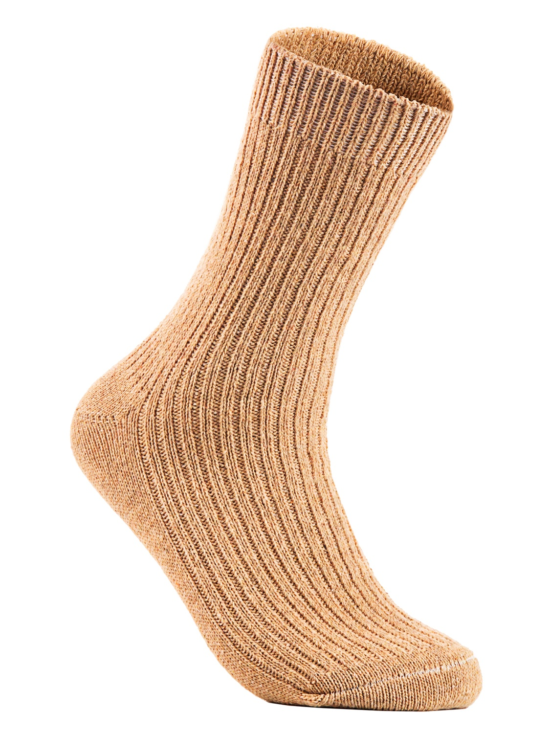 Lian Style Big Girls 4 Pairs Knitted Wool Crew Socks FS03 Size XL (Dark Gray)