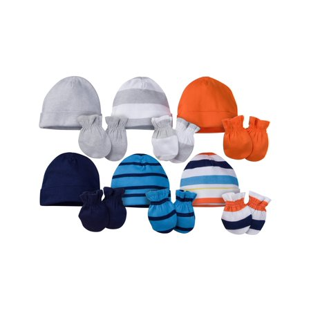 Onesies Brand Caps and Mittens Accessories Set, 12pk Bundle (Baby - Mens Cool Onesies
