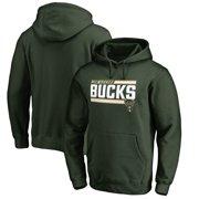 Milwaukee Bucks Fanatics Branded Onside Stripe Pullover Hoodie - Hunter Green