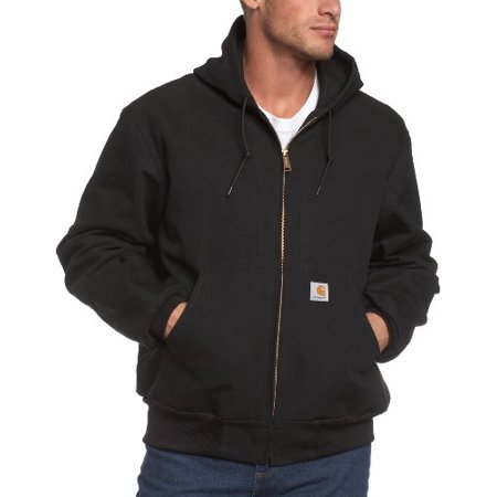 (Carhartt Men's Big & Tall Thermal Lined Duck Active Jacket J131,Black,X-Large Tall)
