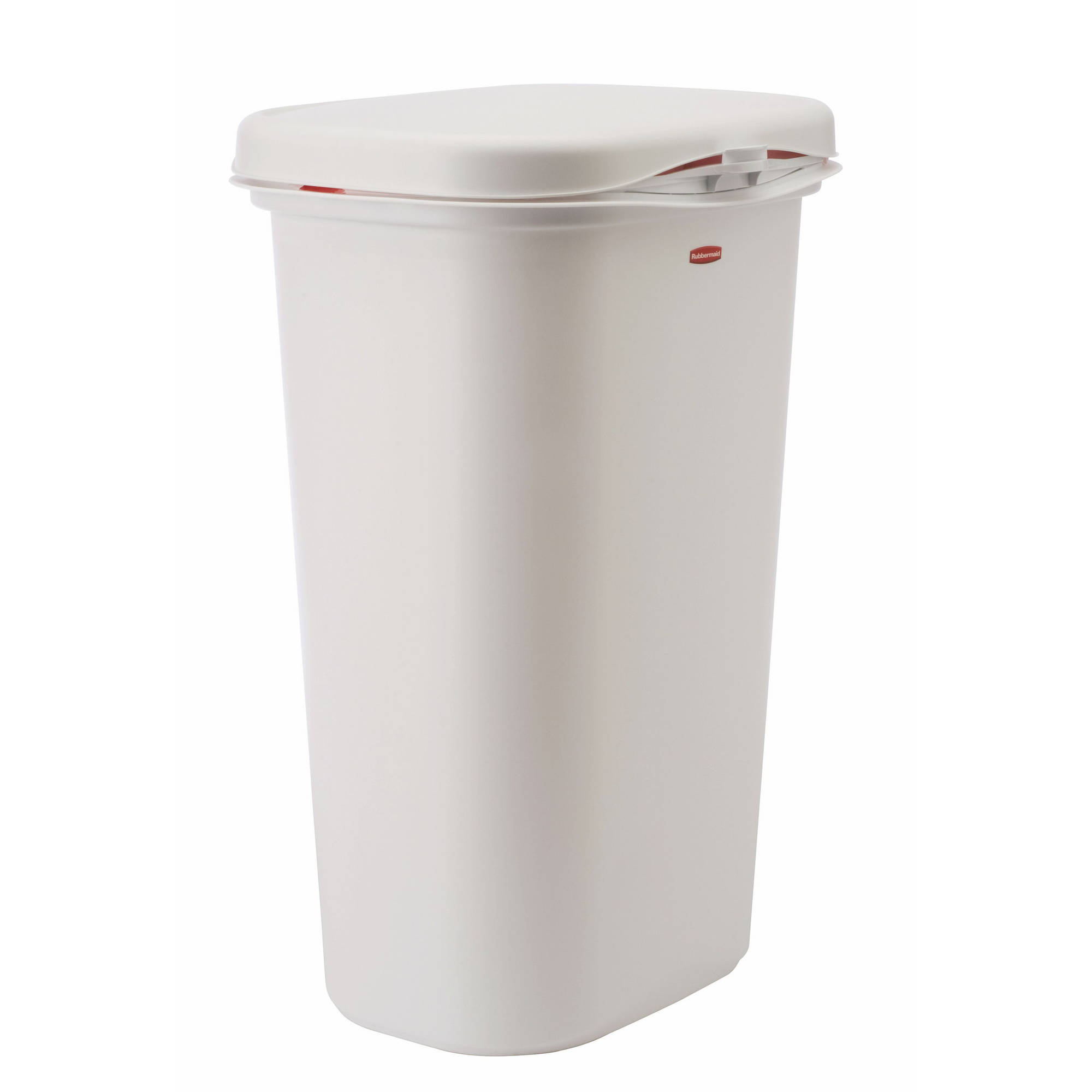 rubbermaid linerlock spring top trash can 13 gal white walmart