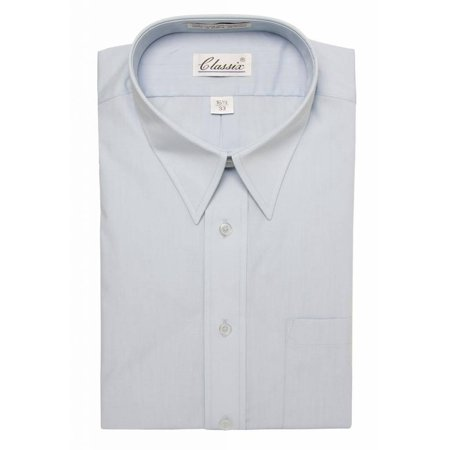 Classic Mens Dress Shirt Long-Sleeve Button Up Shirt