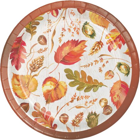 Fall Give Thanks Thanksgiving Leaves 8 Ct 6.75