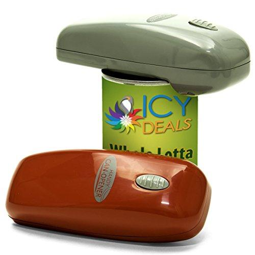 Handy Can Opener Automatic One Touch Electric Can Opener - 2 Pack Multi-Colored