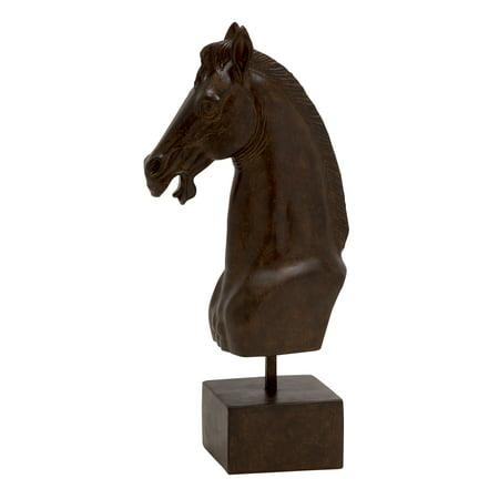 Slick And Polished Polystone Horse Head