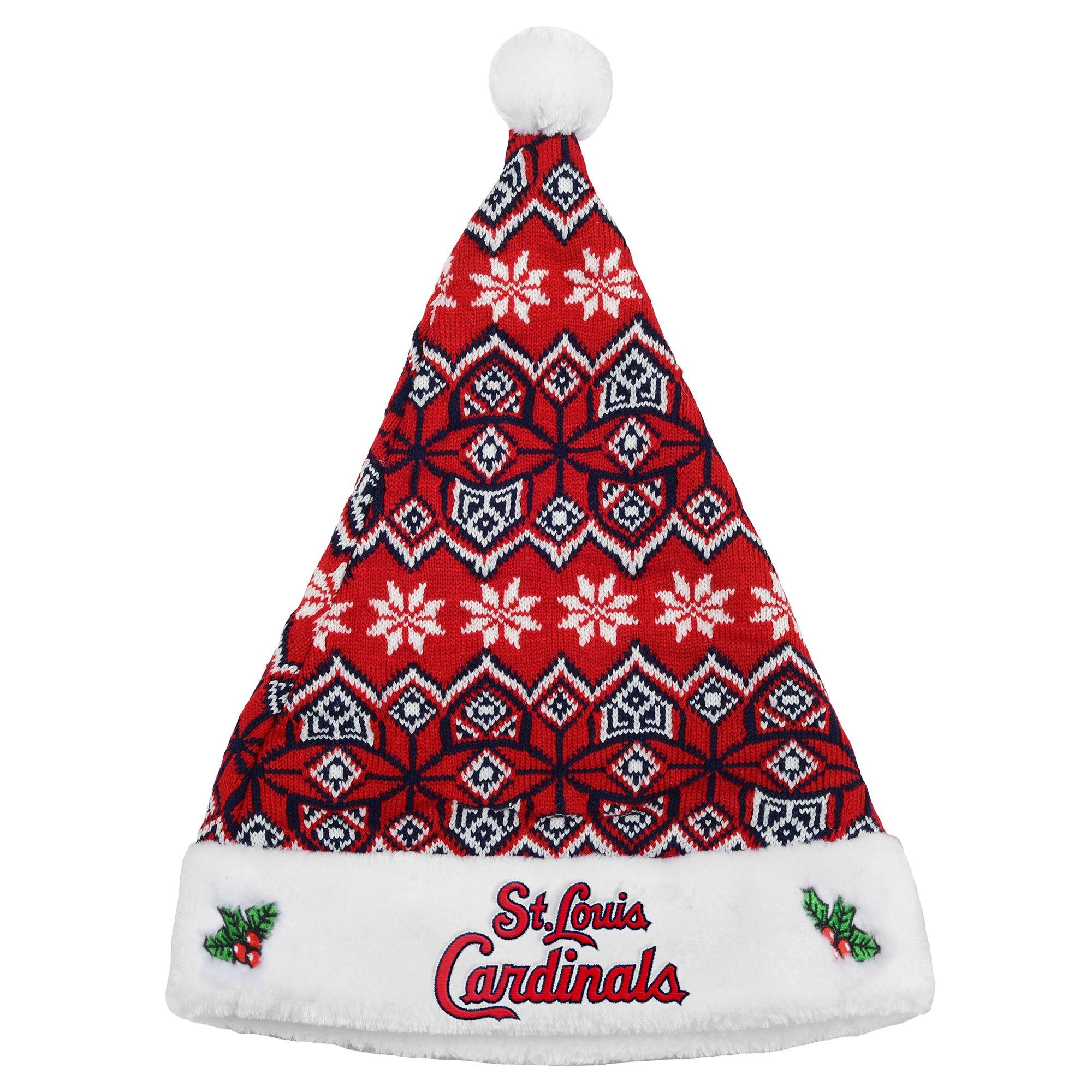 St. Louis Cardinals Knit Santa Hat - No Size