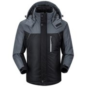 Men's Winter Ski Jacket Coat Snow Waterproof Windbreaker Fleece Warm Outerwear