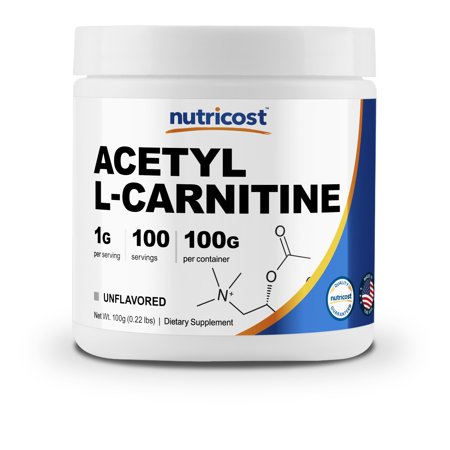Nutricost Acetyl L-Carnitine (ALCAR) 100 GMS - 1000mg Per Serving - High Quality Acetyl L-Carnitine Powder Acetyl L-carnitine 500 Vitamins