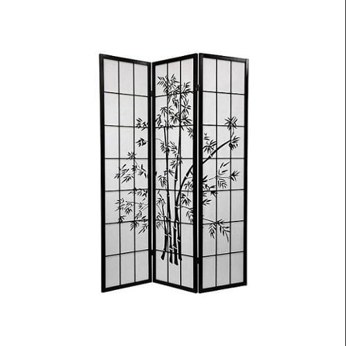 Lucky Bamboo Room Divider (3 Panels / Natural)