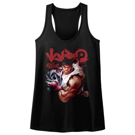 Street Fighter Video Martial Arts Arcade Game Controls Womens Tank Top Tee
