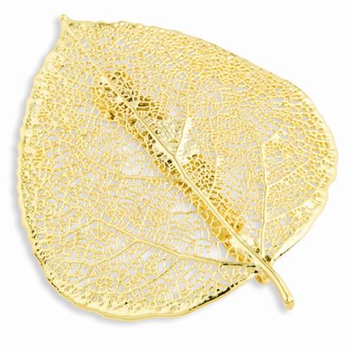 24k Gold Dipped Aspen Leaf Pin