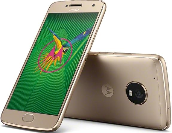 Motorola Moto G5 Plus 64GB Unlocked Smartphone, Fine Gold