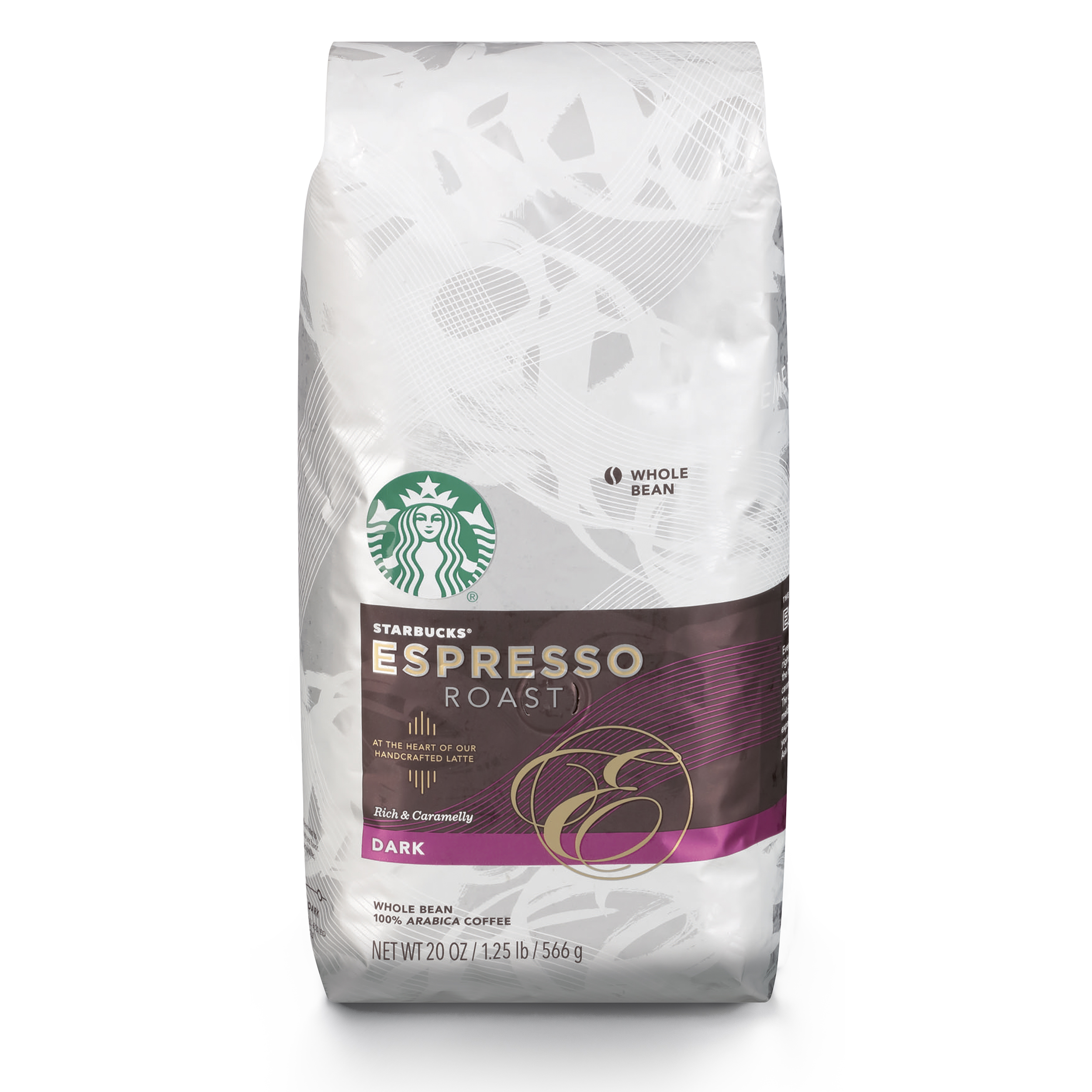 Starbucks Espresso Dark Roast Whole Bean Coffee, 20-Ounce Bag ...