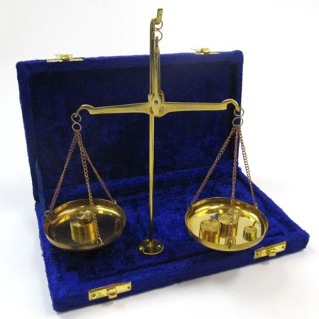 India Overseas Trading BR40931 Solid Brass Scale Set in Velvet