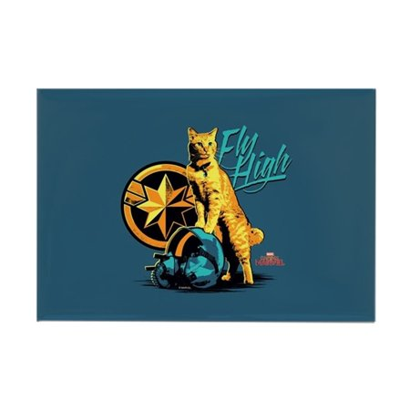 "CafePress - Captain Marvel Goose The Cat - Rectangle Magnet, 2""x3"" Refrigerator Magnet"