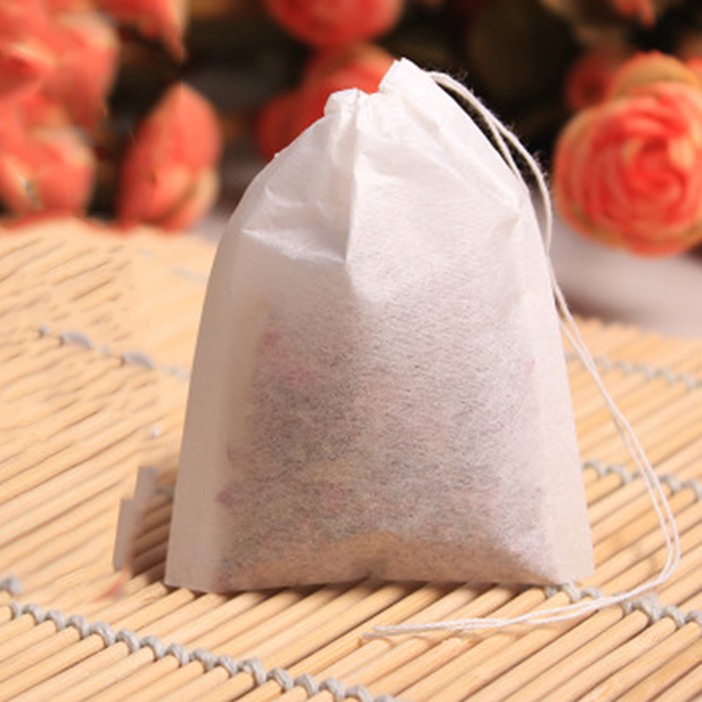 100pcs/set Empty Teabags String Heat Seal Filter Paper Herb Loose Tea Bags
