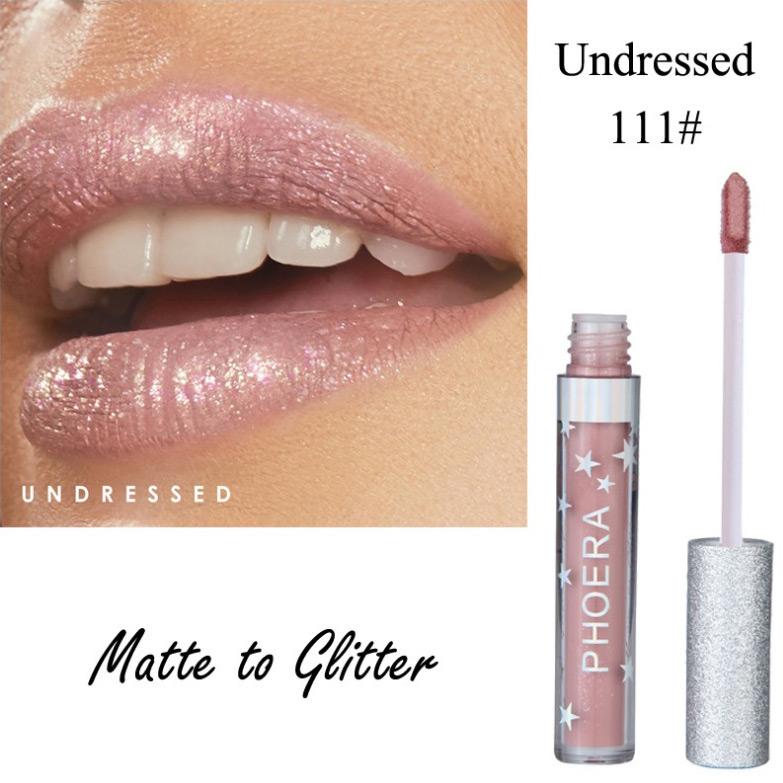 Arosetop Women Metallic Color Lipstick Waterproof Lip