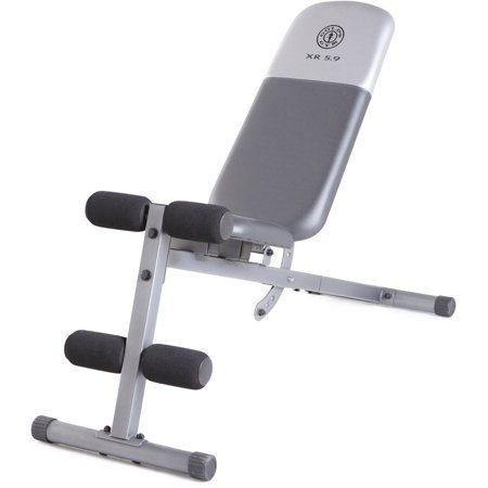 Gold 39 S Gym Xr 5 9 Adjustable Slant Workout Weight Bench