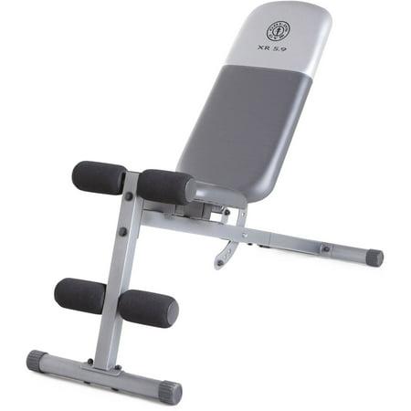 Terrific Golds Gym Xr 5 9 Adjustable Slant Workout Weight Bench Creativecarmelina Interior Chair Design Creativecarmelinacom