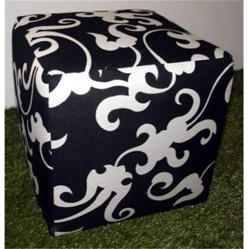 Somers Furniture 8154 17 inch W x 17 inch D x 17 inch H Square Ottoman
