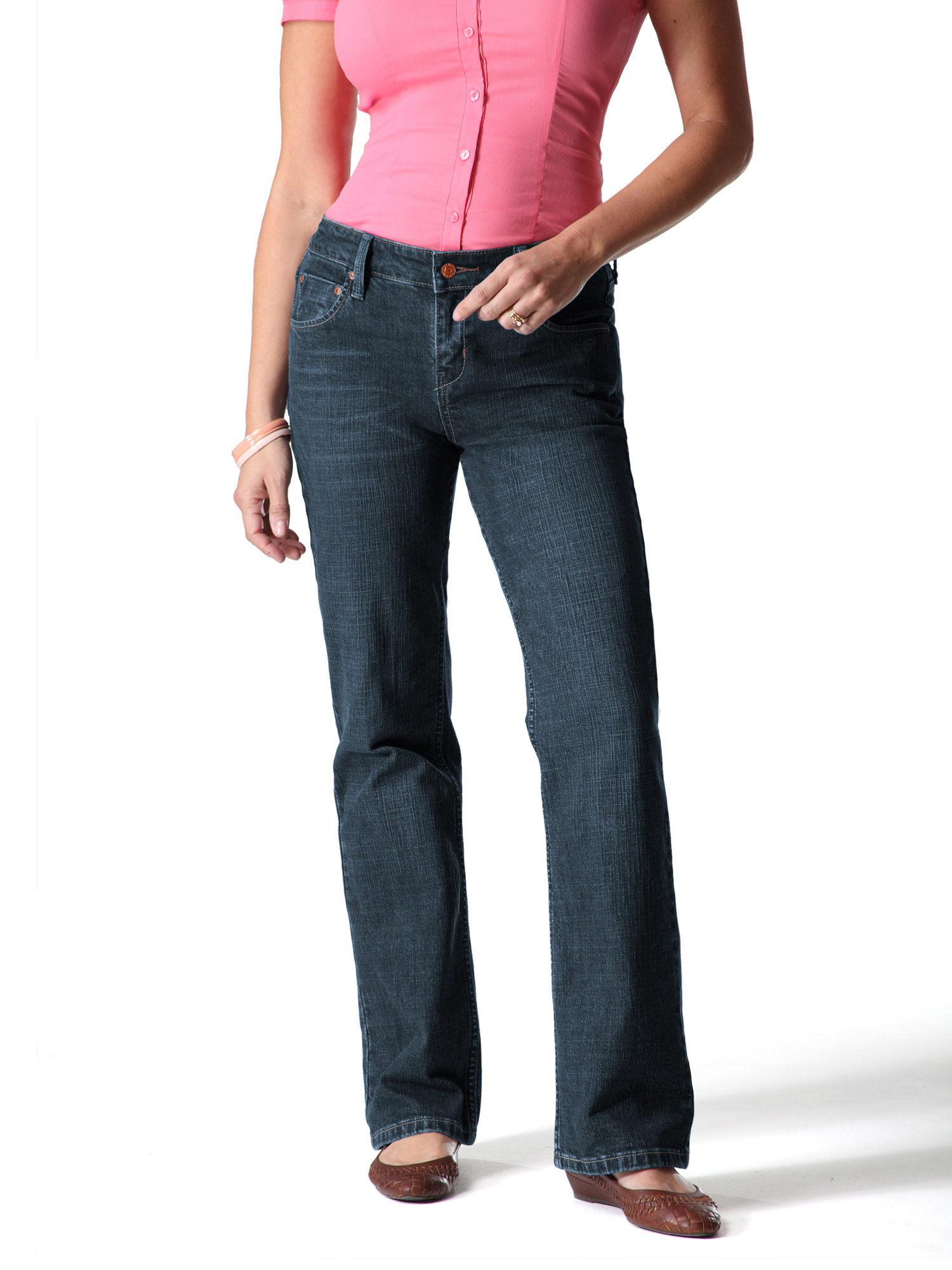 Women's Totally Slimming At Waist Bootcut Jean