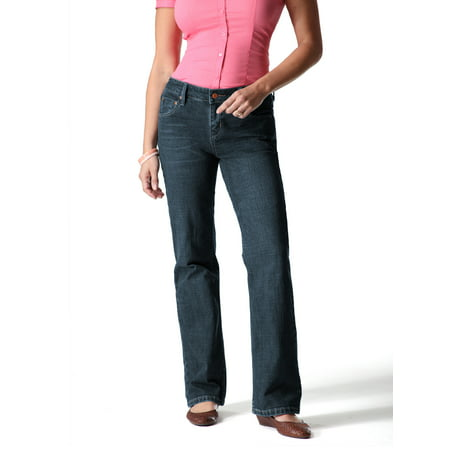 Womens Light Blue Jeans - Women's Totally Slimming At Waist Bootcut Jeans