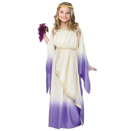 Girls Purple Goddess Costume](Roman Goddess Dress)
