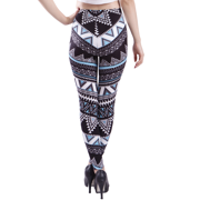 32a6c8e29b6 HDE Women s Plus Size Leggings Ultra Soft Fashion Design Stretch Pants (Aztec  Tribal Turqoise