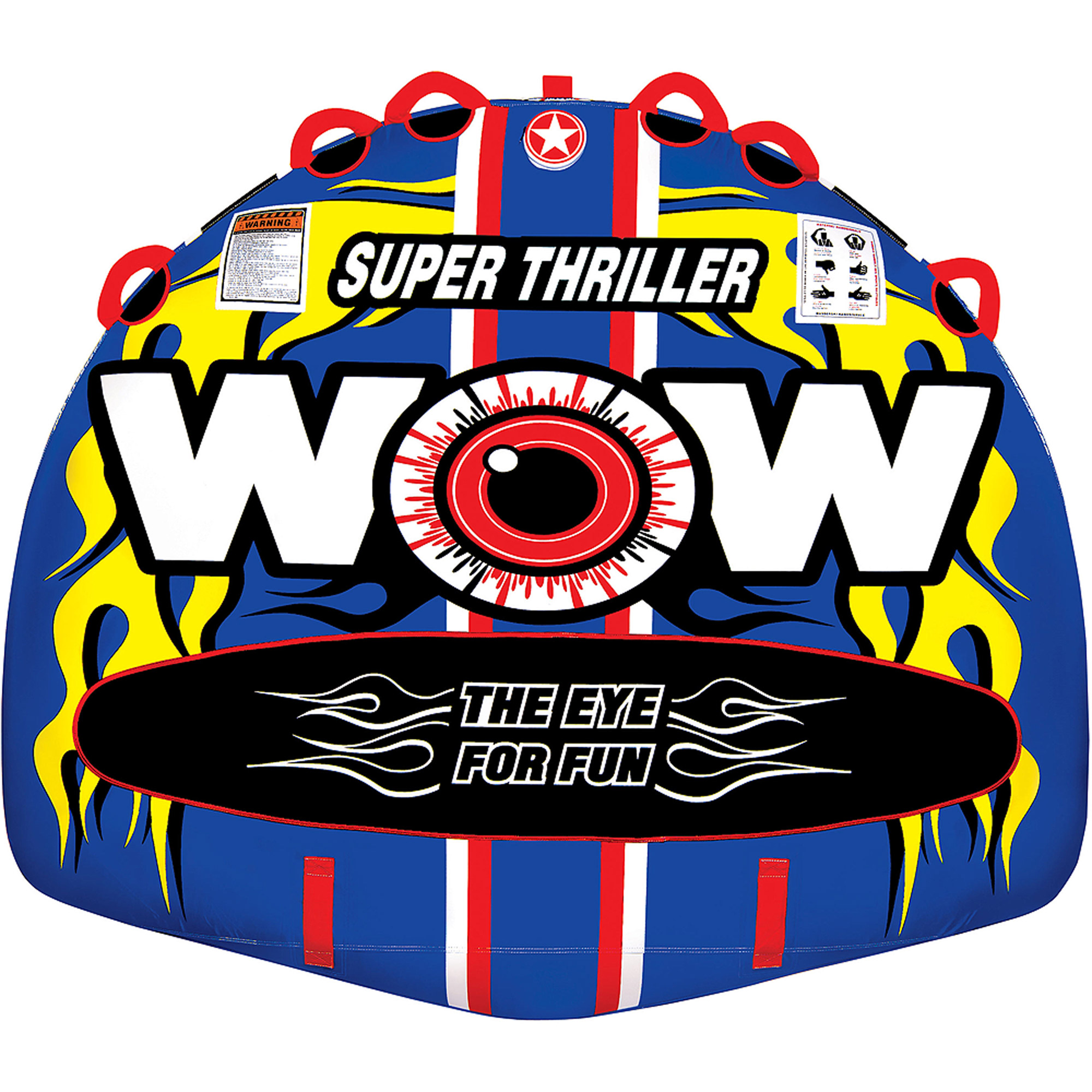 WOW World of Watersports 11-1080 Super Thriller Boat Tube Towable, Inflatable, 1 to 3 Riders by World of Watersports