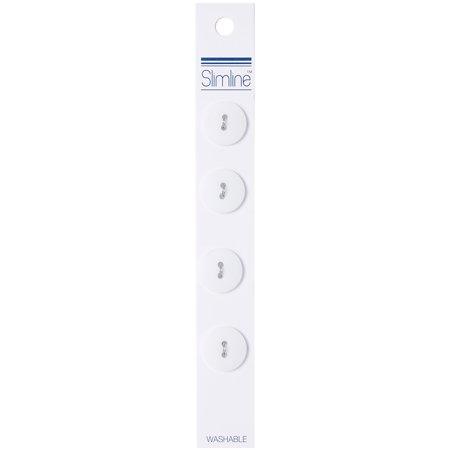 "Slimline Buttons Series 1-White 2-Hole 5/8"" 4/Card - image 1 de 1"