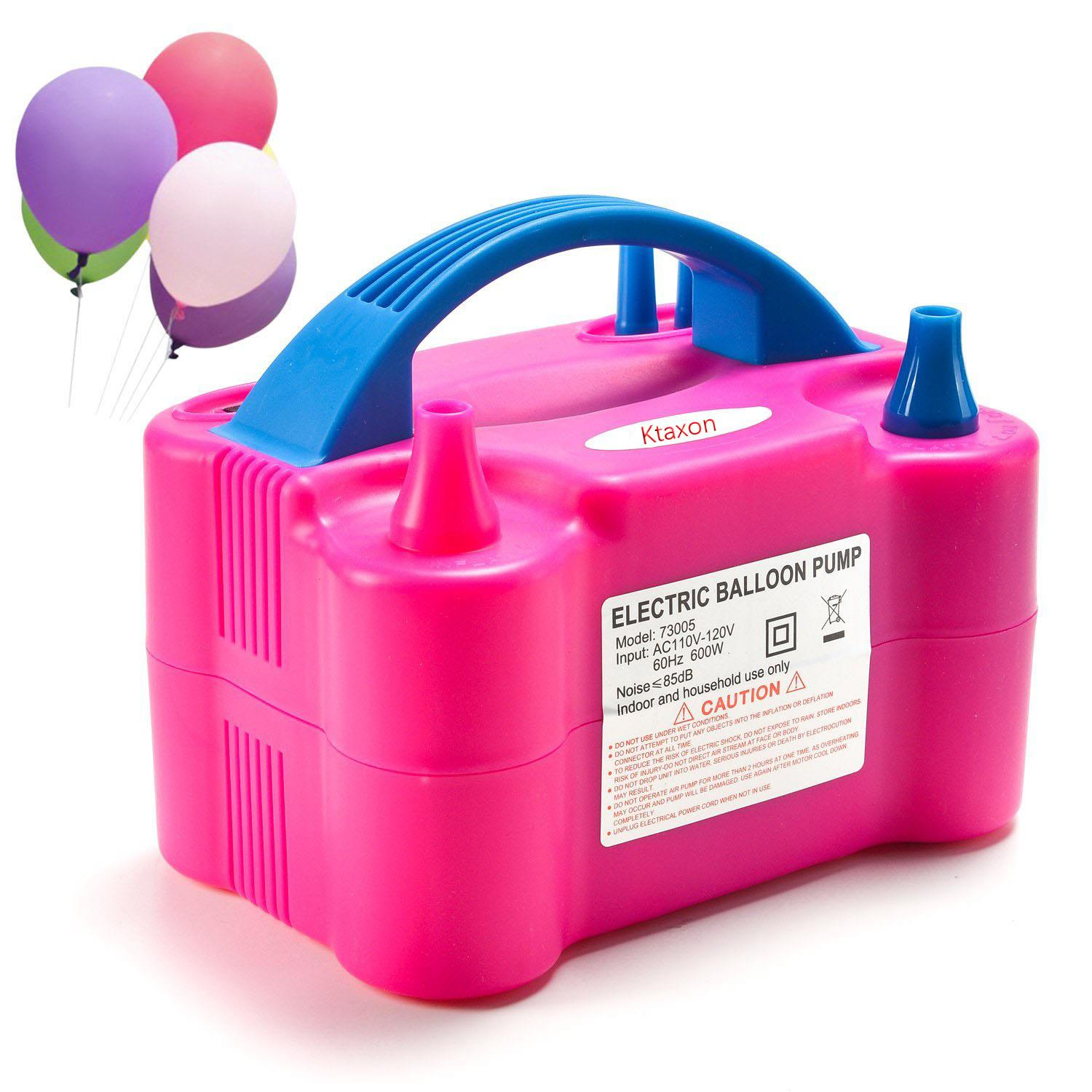 110V Two Nozzle Color Air Blower Electric Balloon Inflator Pump Banquet //Party