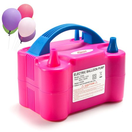 Ktaxon 110V High Power Two Nozzle Color Air Blower Electric Balloon Inflator Pump New