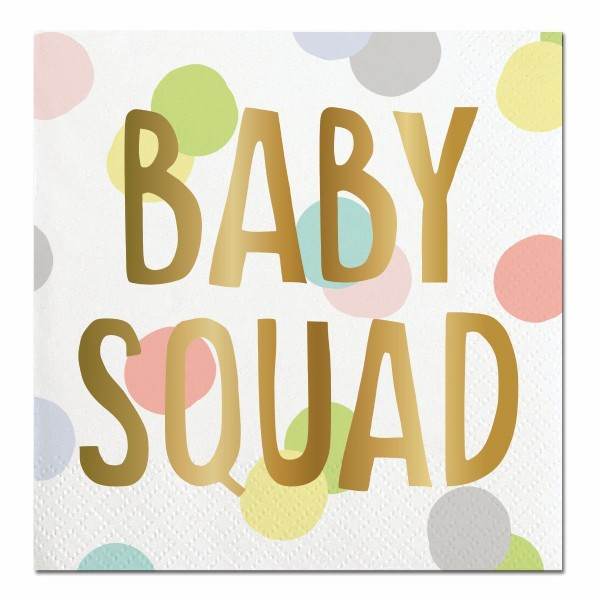 'BABY SQUAD' Funny 20 Ct Cocktail Napkins by Slant