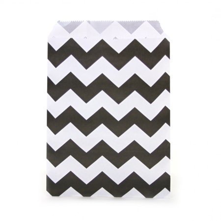 Dress My Cupcake 24-Pack Party Favor Bags, Chevron,