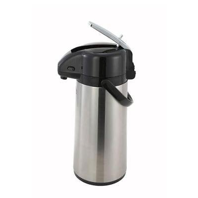Airpot Glass Liner - Winco AP-822 Airpot, 2.2 liter, glass liner, lever-top, double wall insulated
