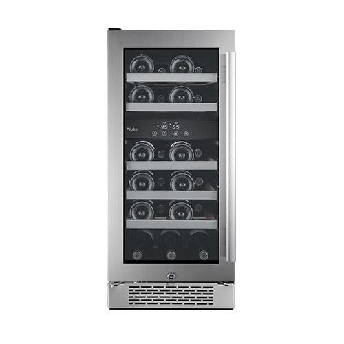 """Avallon AWC151DZLH 15"""" Wide 23 Bottle Capacity Dual Zone Wine Cooler with Left Swing Door"""