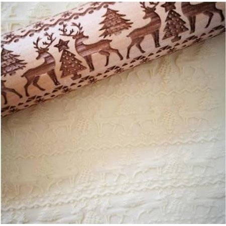 Christmas Gift Pattern Embossing Rolling Pin Gingerbread Cookies For Kitchen DIY - image 2 of 5