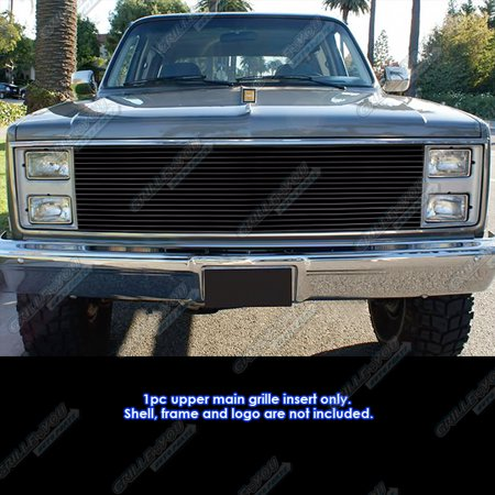 Custom Billet Grille Inserts (Fits Chevy Blazer/C/K Pickup/Suburban/GMC Jimmy Black Billet Grille)