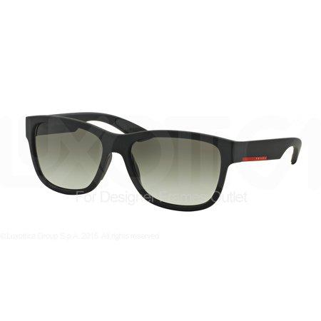 PRADA SPORT Sunglasses PS 03QS DG00A7 Black Rubber 57MM