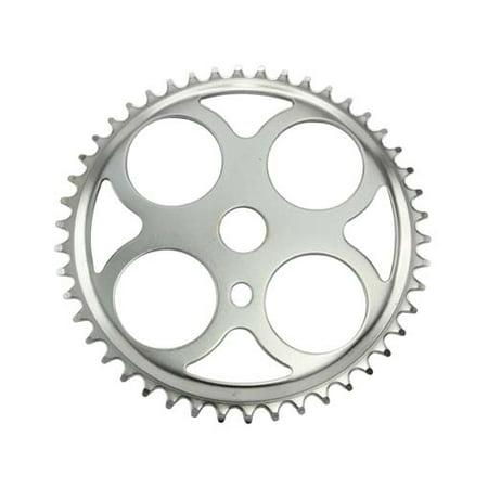Sprocket W/4 Circles 46t 1/2 X 1/8 Chrome.bicycles, bikes, for lowriders, beach cruiser, strech bikes, limos, chopper (Bike Front Sprocket)
