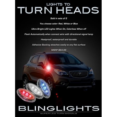 Buick Encore LED Side Markers Turnsignals Lights Lamps Accent Turn Signalers Set - Marker Turn Lamp
